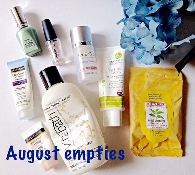 empty cosmetics August 2015 neversaydiebeauty.com @redAllison