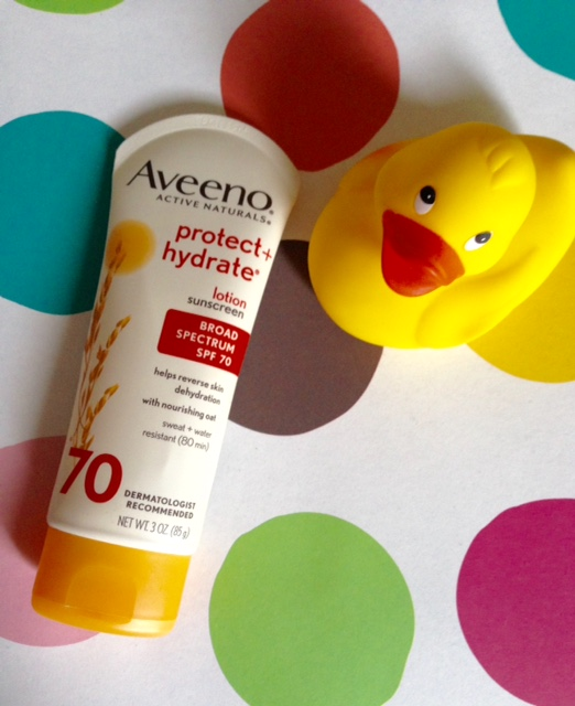 Aveeno Protect + Hydrate Lotion Sunscreen SPF 70 neversaydiebeauty.com @redAllison