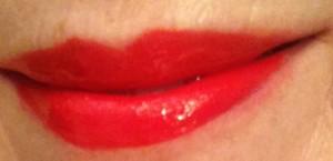 Bite Beauty Mimosa Lipgloss swatch, neversaydiebeauty.com @redAllison