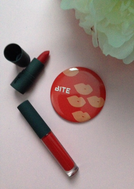 Sephora gift: Bite Beauty Mimosa Lipstick & Lipgloss minis