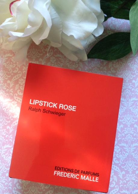 Frederic Malle Lipstick Rose perfume box, neversaydiebeauty.com @redAllison