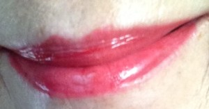 lips wearing Lipstick Queen Endless Summer Moisturizing Lipstick in Aloha, neversaydiebeauty.com, @redAllison