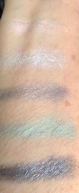 Mirabella Diamond Deceit eyeshadow palette swatches, neversaydiebeauty.com @redAllison