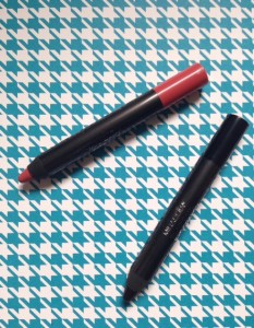 Mirabella Velvet Lip Crayon in Wanted & Eye Crayon in Blackmail, neversaydiebeauty.com @redAllison