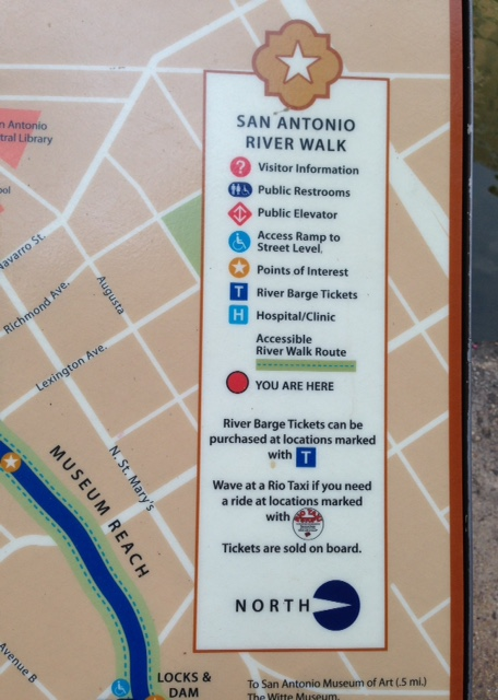 map of the Riverwalk San Antonio, neversaydiebeauty.com @redAllison