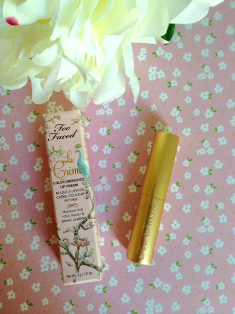 Too Faced La Creme Drenched Lip Cream neversaydiebeauty.com @redAllison