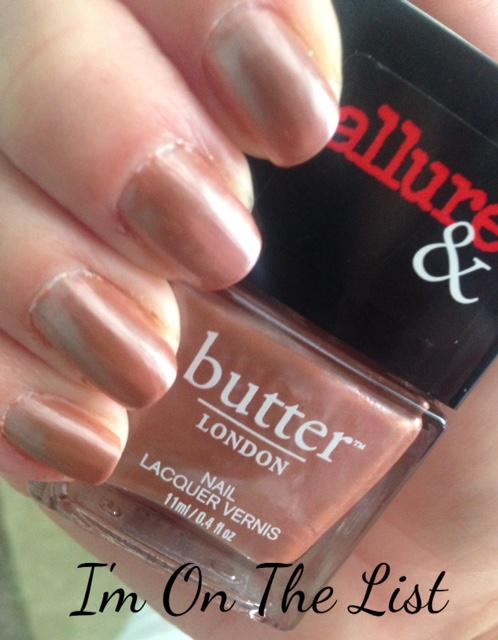 butterLONDON I'm On The List nail lacquer, neversaydiebeauty.com, @redAllison