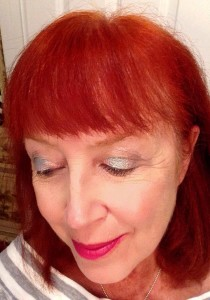 me wearing Mirabella Diamond Deceit eyeshadows, neversaydiebeauty.com @redAllison