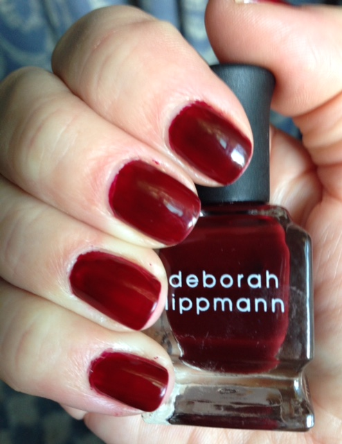 Deborah Lippmann nail polish, shade Single Ladies, mani neversaydiebeauty.com @redAllison