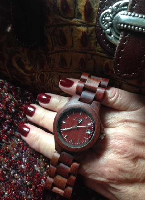 red Jord Wood Watch with Deborah Lippmann All The Single Ladies nail polish neversaydiebeauty.com @redAllison