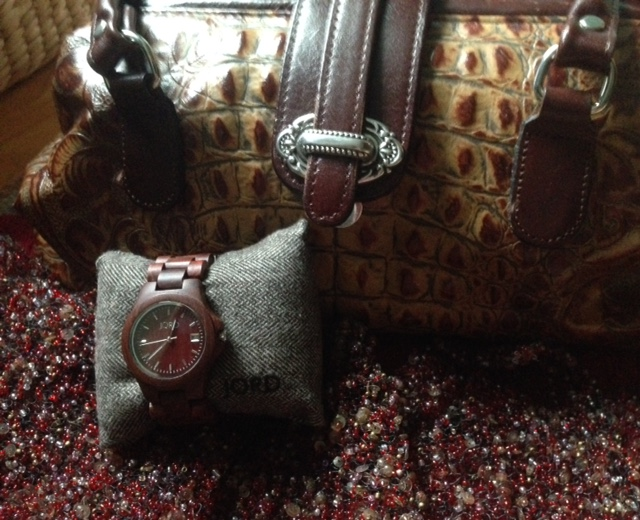 red Jord Wood watch styled with accessories neversaydiebeauty.com @redAllison