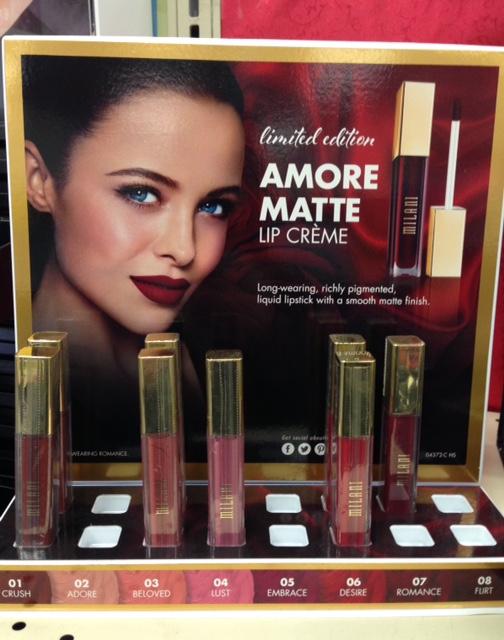 Milani Amore Matte Lip Creme display neversaydiebeauty.com @redAllison