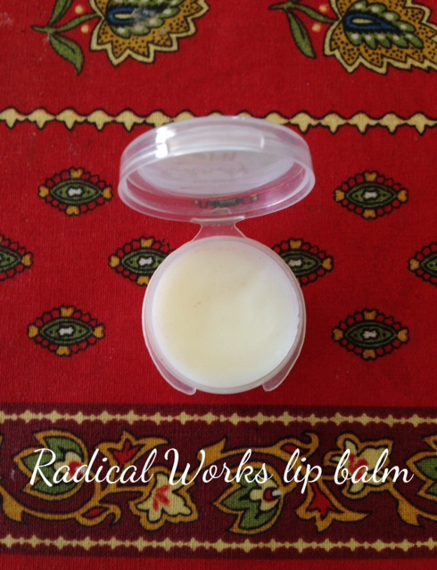 Radical Works lip balm sample neversaydiebeauty.com @redAllison