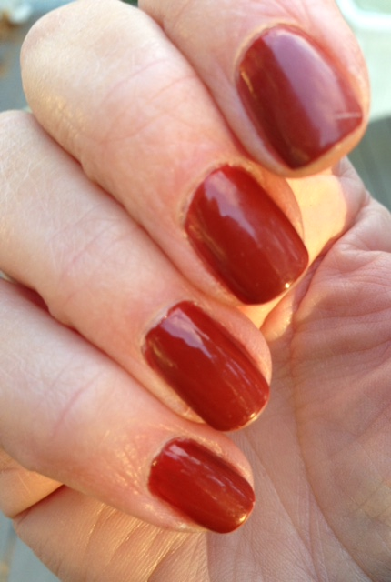 manicure with butterLONDON nail lacquer in Vintage neversaydiebeauty.com @redAllison