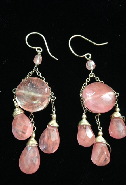 pink chalcedony chandelier earrings from Fragments neversaydiebeauty.com @redAllison