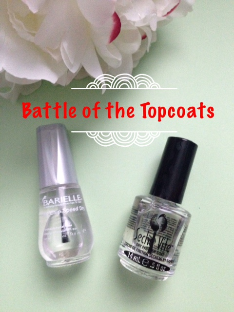 Barrielle No Chip Speed Dry & Seche Vite nail polish topcoats neversaydiebeauty.com @redAllison