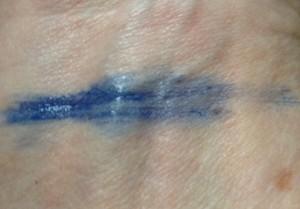 Youngblood Outrageous Lashes Lengthening Mascara , cobalt blue swatch neversaydiebeauty.com @redAllison