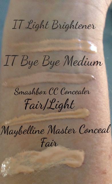 Liquid concealer swatches neversaydiebeauty.com @redAllison