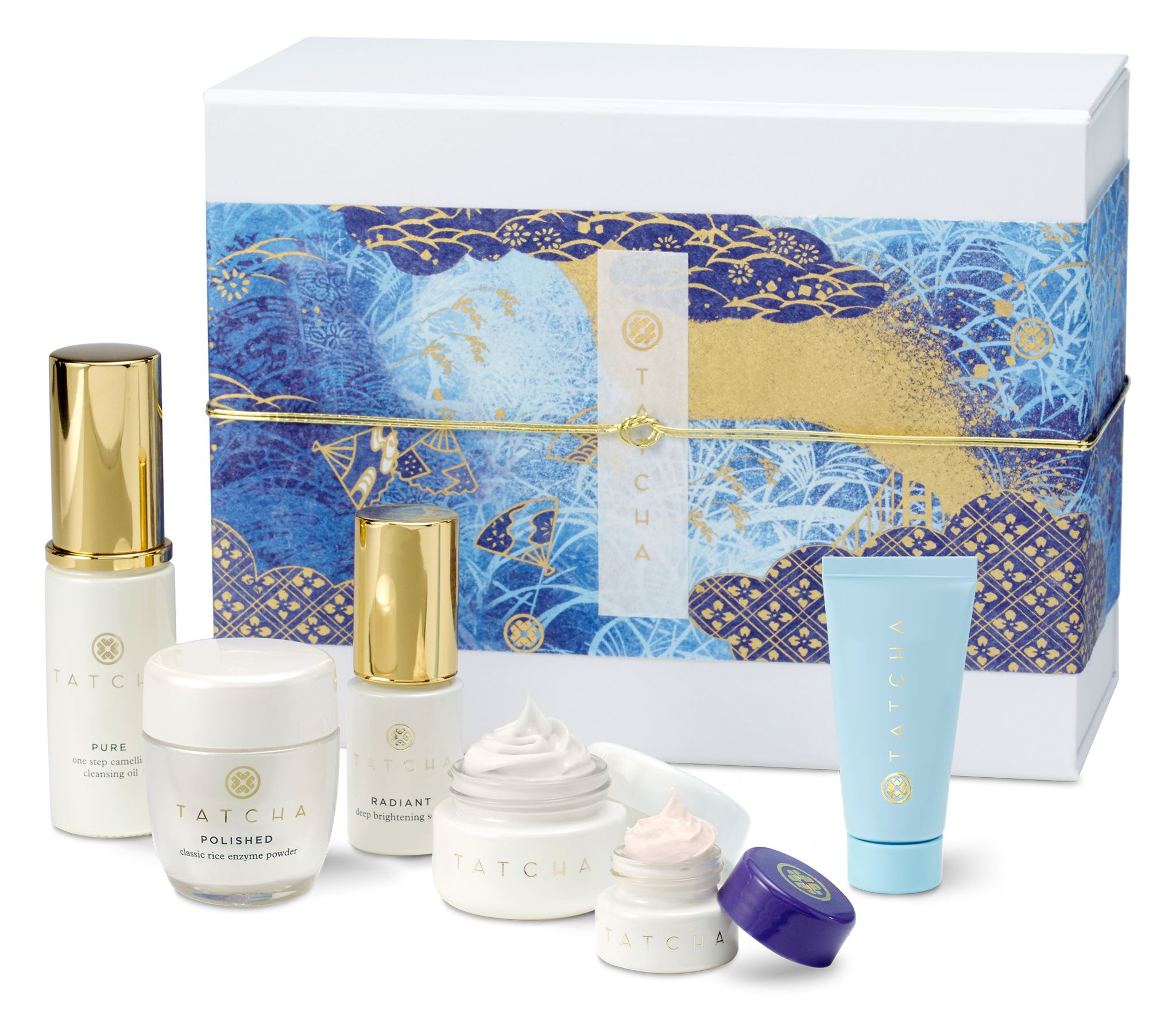 Tatcha Indigo Soothing Triple Recovery Cream Deep Hydration Firming Serum Holiday Gift Sets And Friends Family Sale Never Say Die Beauty