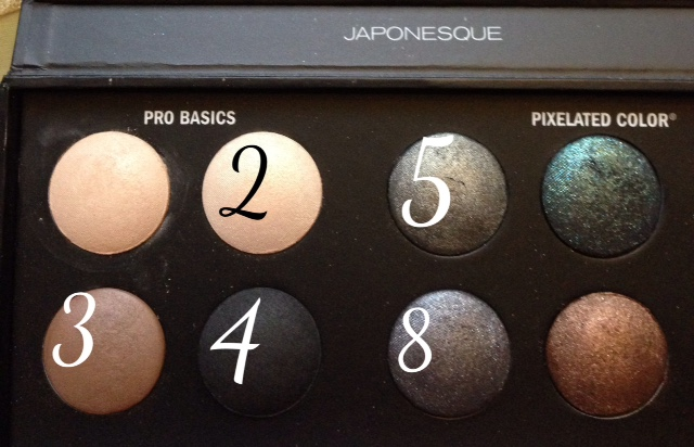 eye shadow shades from Japonesque Pixelated Color Eye Shadow Palette neversaydiebeauty.com @redAllison
