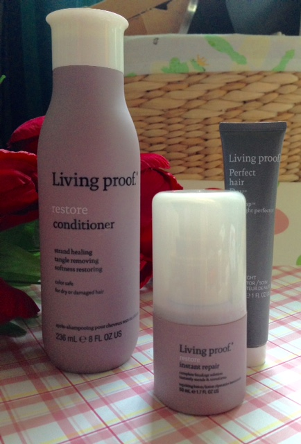 Living Proof Restore Conditioner & Instant Repair & PHD Night Cap haircare products neversaydiebeauty.com @redAllison