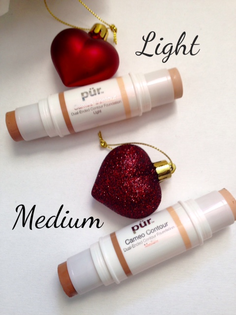 PUR Cameo Contour sticks in Light and Medium neversaydiebeauty.com @redAllison