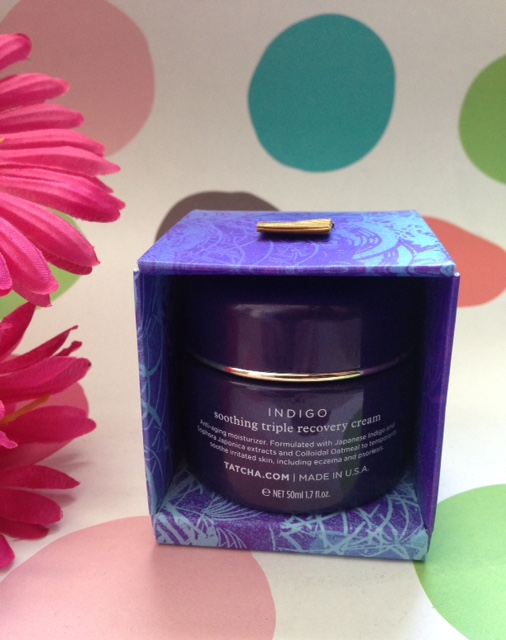 Tatcha Indigo Soothing Triple Recovery Cream packaging neversaydiebeauty.com @redAllison