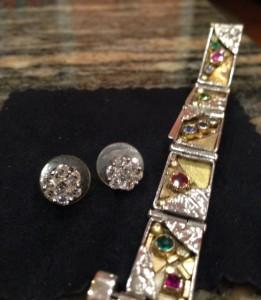 diamond earrings fancy bracelet neversaydiebeauty.com