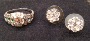 diamond ring and earrings neversaydiebeauty.com @redAllison