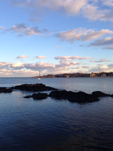 view of Marblehead MA harbor winter afternoon neversaydiebeauty.com @redAllison
