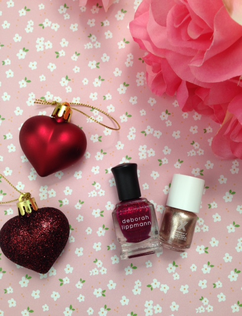 Christmas nail polish choice: Deborah Lippmann Raspberry Beret or Formula X Revved Up? neversaydiebeauty.com @redAllison