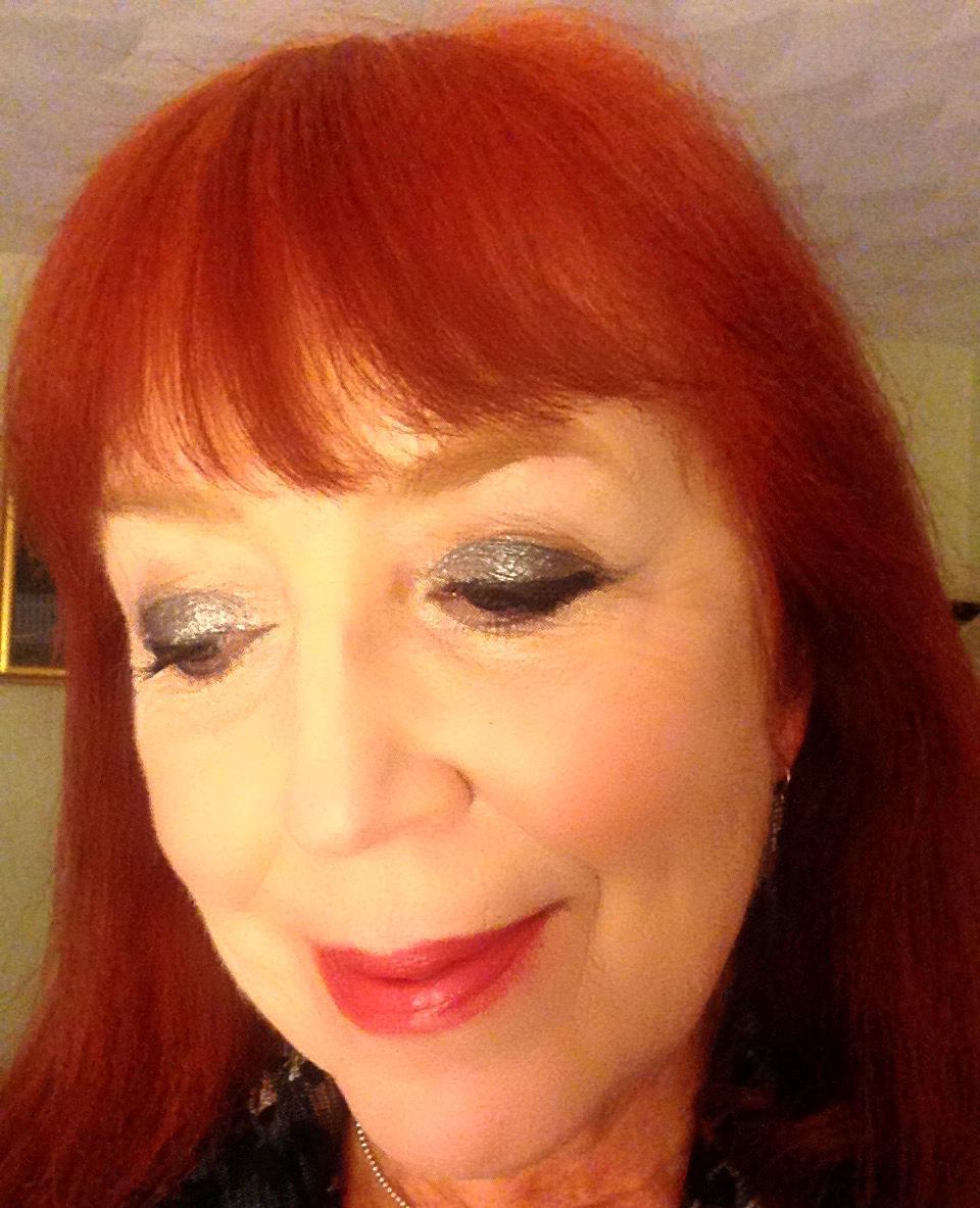 silvery metallic eye look created with makeup from Ulta Beauty neversaydiebeauty.com @redAllison