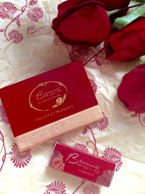 Besame Decades of Fragrance set and Lipstick outer packaging neversaydiebeauty.com @redAllison