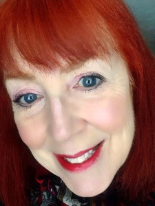 me wearing Besame Red Hot Red Classic Lipstick neversaydiebeauty.com @redAllison