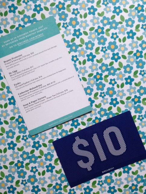 Birchbox product & discount cards neversaydiebeauty.com @redAllison