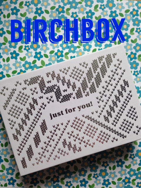 Birchbox January 2016 with title neversaydiebeauty.com @redAllison
