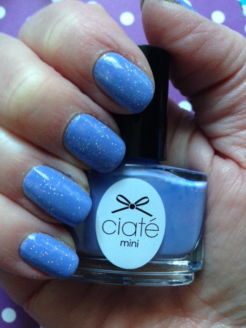manicure with Ciate Double Bubblegum & China Glaze Fairy Dust nail polish neversaydiebeauty.com @redAllison