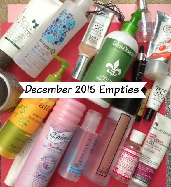 December 2015 empty beauty products neversaydiebeauty.com @redAllison