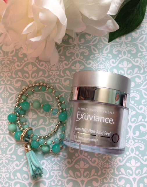 Exuviance Firm-NG6 Non-Acid Peel, a non-irritating glycolic facial peel neversaydiebeauty.com @redAllison