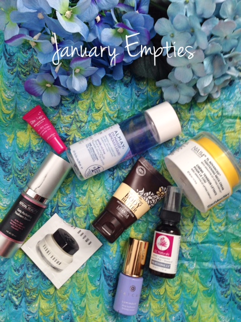 January 2016 Empty Beauty Products