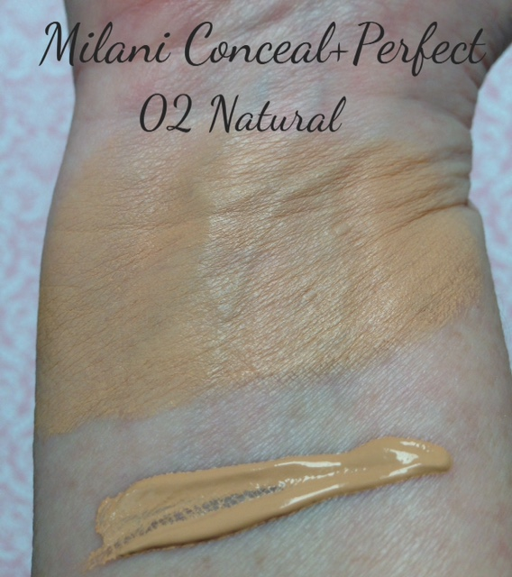 Milani Conceal + Pefect 2-in-1 Foundation + Concealer swatch, Natural shade neversaydiebeauty.com @redAllison