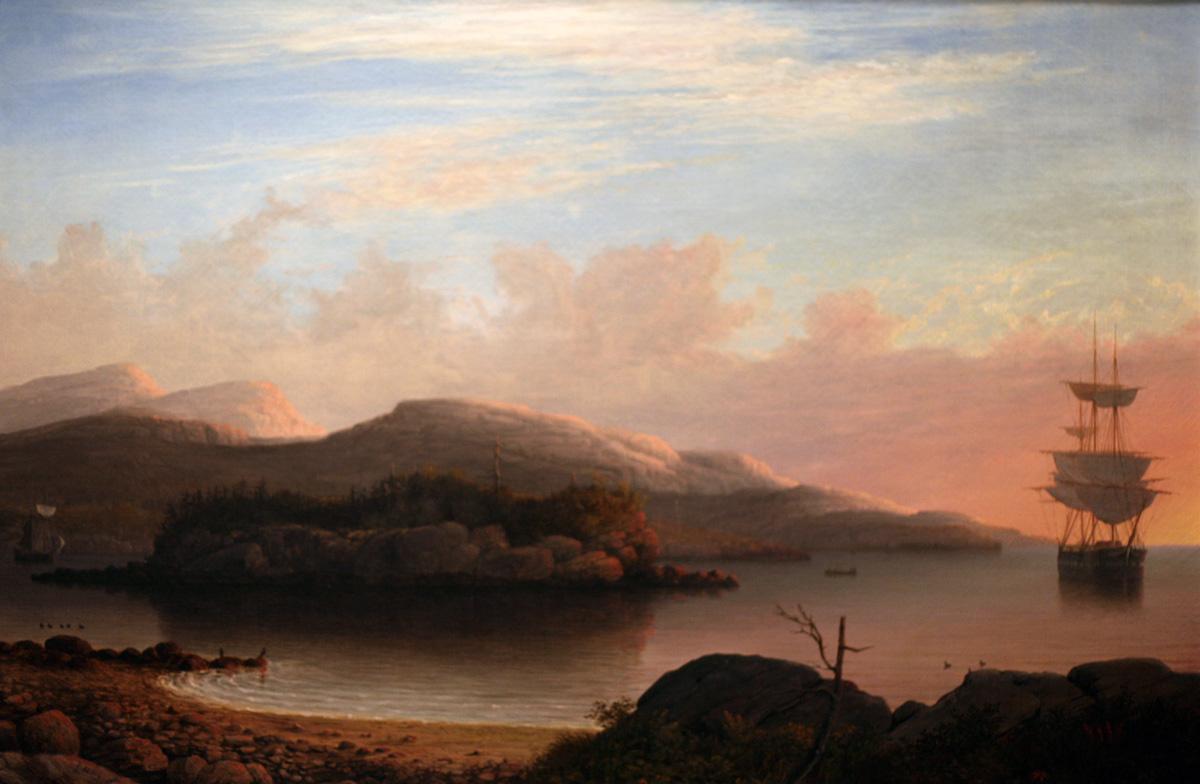 "Fitz Henry Lane painting ""Off Mount Desert Island"" neversaydiebeauty.com @redAllison"