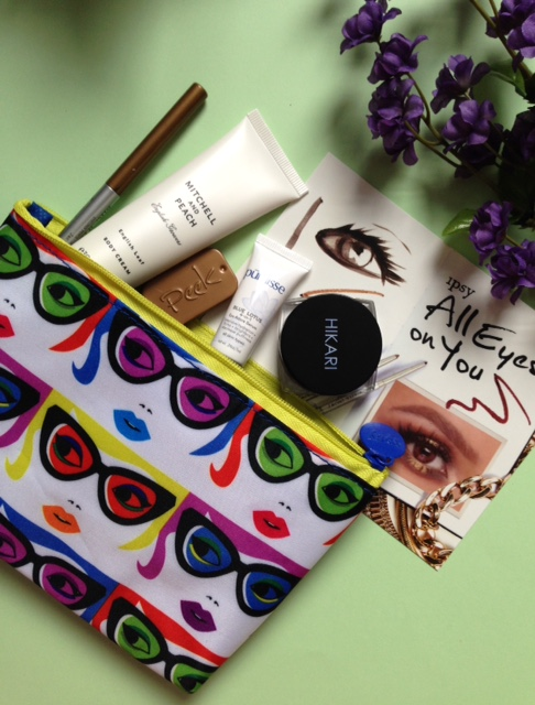 ipsy The Eyes Have It makeup bag and contents January 2016 neversaydiebeauty.com @redAllison