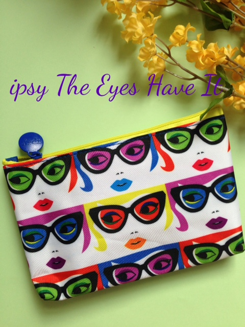 ipsy makeup bag with sunglasses pattern from January 2016 neversaydiebeauty.com @redAllison