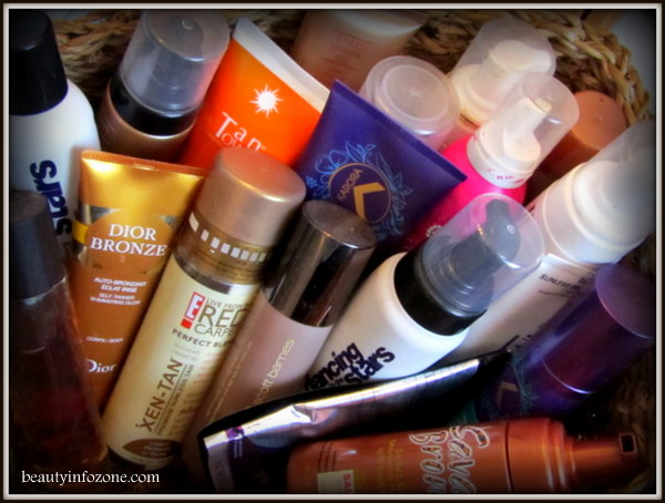 collection of bronzers