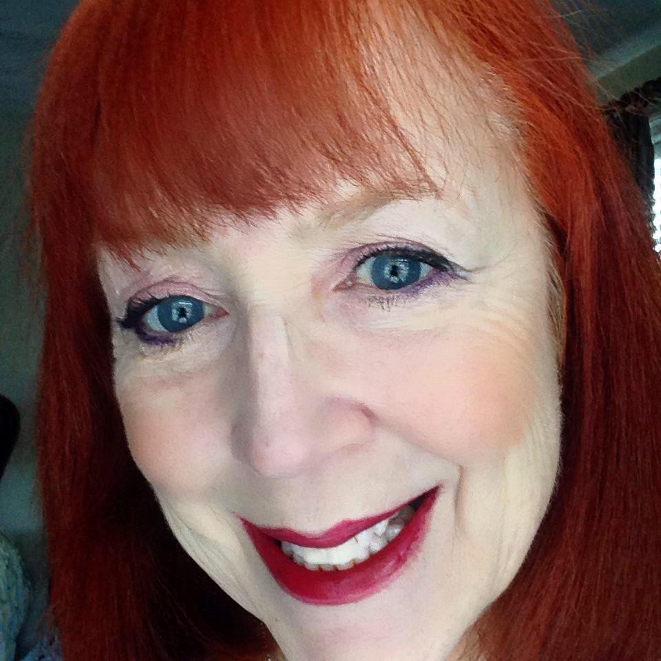 me wearing Youngblood Vintage eyeshadow quad & blush neversaydiebeauty.com @redAllison