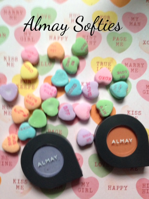 Almay Softies Eyeshadow singles in Peach Fuzz & Vintage Grape neversaydiebeauty.com @redAllison