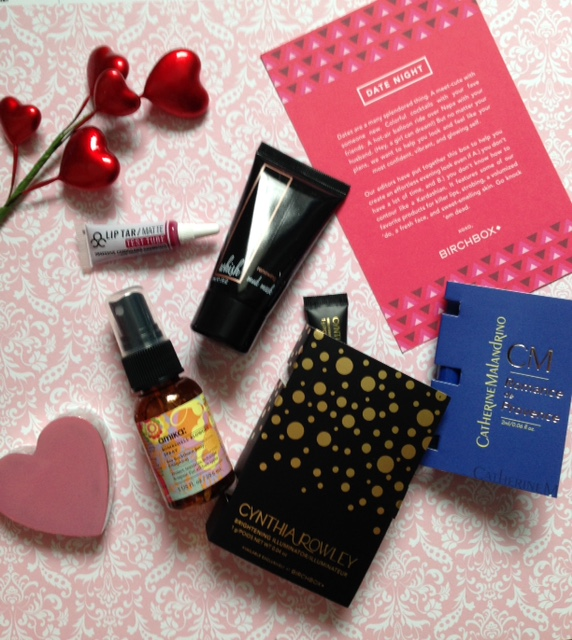 "Birchbox ""Date Night"" February 2016 product card & products neversaydiebeauty.com @redAllison"