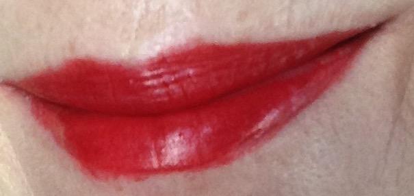 Burt's Bees Lipstick in Scarlet Soaked, red lip swatch neversaydiebeauty.com @redAllison