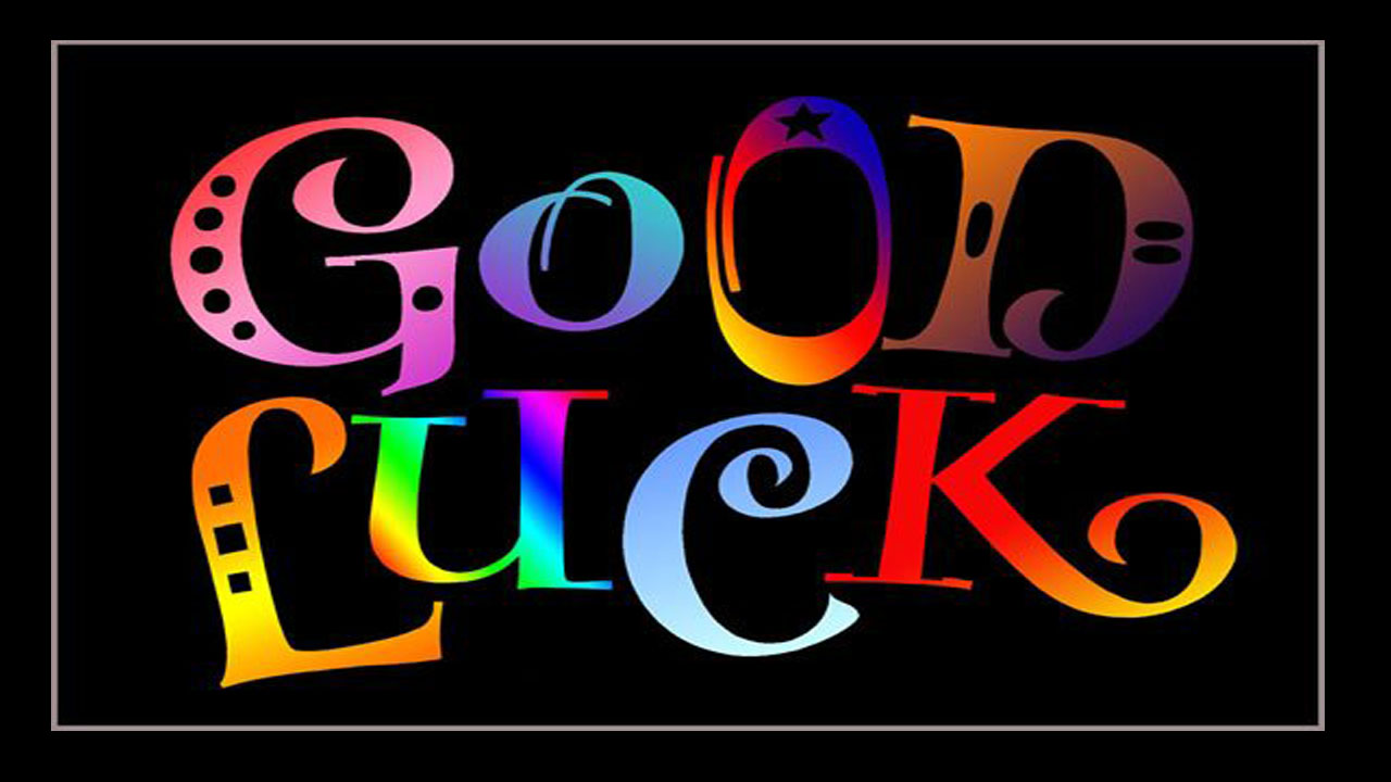 Good Luck in rainbow colors